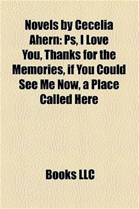 novels  cecelia ahern ps  love