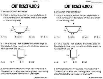area  perimeter math tasks  exit   create