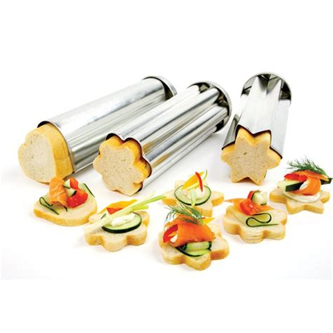 canape toast pack of 3pcs flower shaped toast mold