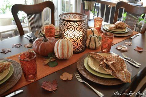 thanksgiving table thanksgiving table setting ideas this makes that