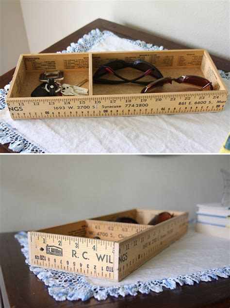 crates wood boxes diy ruler entryway box tutorial