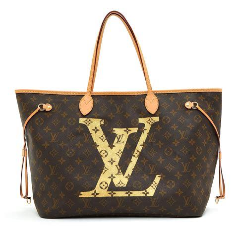 Neverfull Louis Vuitton NUNCA GM GM DOURADO LV Marrom Lona ...