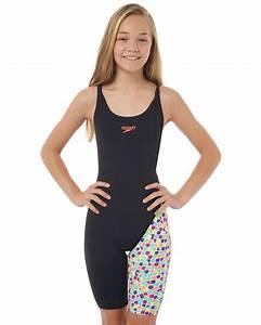 Billabong Kids Size Chart Speedo Kids Girls Leaderback Legsuit Rainbow Snake