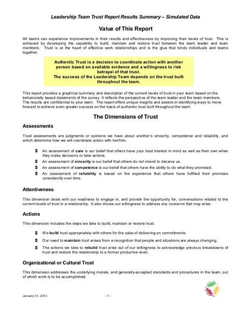 triscendance trust assessment  leadership teams