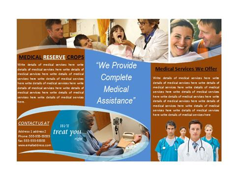 Healthcare Brochure Templates Free by Brochure Template For Services Brochures