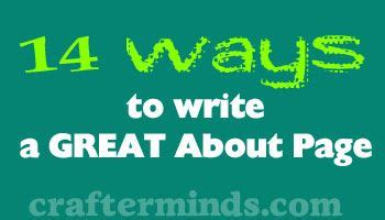14 Ways To Write A Great About Page! #blogging  Tips Blogging  Pinterest  Hooks, The O'jays