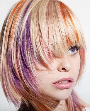 multi color hair styles multi tone hair color ideas