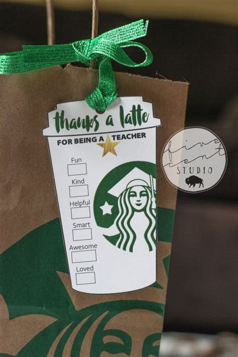 star teacher    school year appreciation starbucks