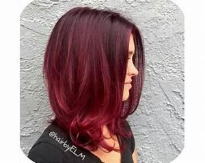 Ombré Hair Rouge : coupe de cheveux avec meche rouge ~ Melissatoandfro.com Idées de Décoration