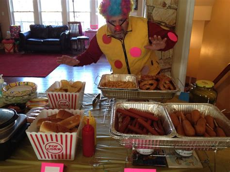 carnival food ideas the carnival party food corndogs hot dogs soft pretzels fries popcorn carinval birthday