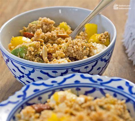 cuisine couscous arabischer couscous salat madame cuisine