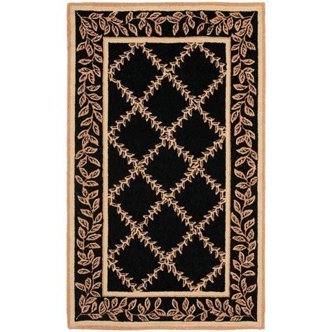 area rugs black safavieh chelsea black gold 2 ft 9 in x 4 ft 9 in area 1335