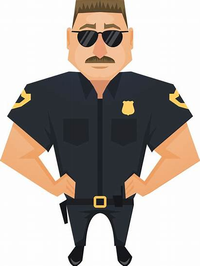 Police Officer Judge Policeman Clipart Handsome Transparent