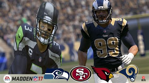 official madden  ratings cardinals seahawks rams
