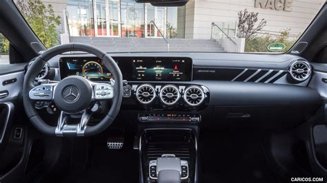 Not only it borrows some sporty and inside the cabin, however, the a3 sedan looks a bit old and it doesn't have the premium features you. 2020 Mercedes-AMG CLA 45 - Interior, Cockpit | HD ...