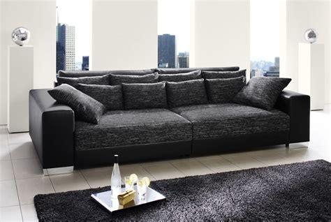 Delife Sofa. Trendy Ecksofa Clovis Schwarz Ottomane Links