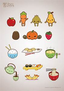Cute Food Illustration Set on Behance