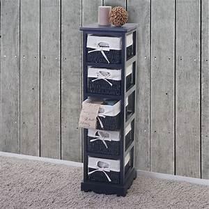 Kommode Grau Vintage : regal kommode mit korbschubladen shabby look vintage ~ Michelbontemps.com Haus und Dekorationen