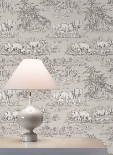 Colours Watering Taupe Animal Safari Metallic Wallpaper - colours watering taupe animal safari metallic