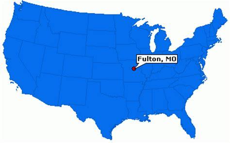 map depicting fulton missouri