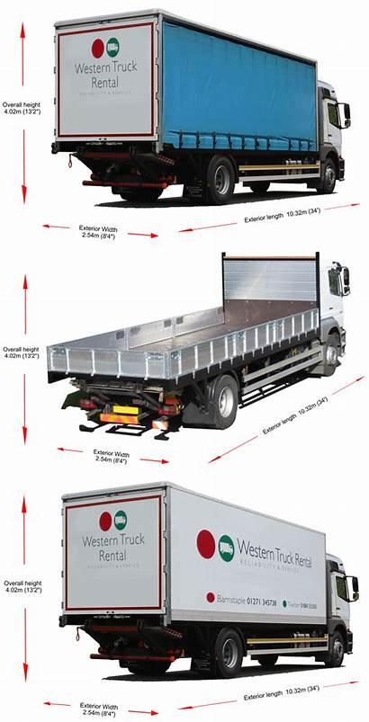 Dimensions Hgv Truck Ton Trucks Rental Hire