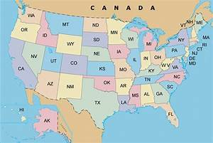 Usa Map With States And Cities Pictures