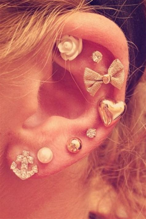 all different kinds of earrings piercings pinterest
