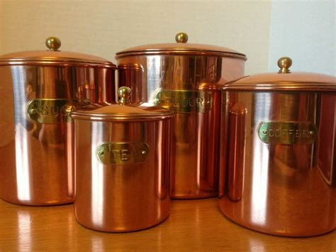 copper kitchen canister sets vintage solid copper kitchen canister set nib daewoo my vintage finds pinterest vintage