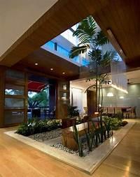 indoor water garden house plans Contemporary Luxury House Designs Interior Open Roof ...