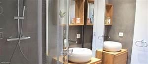 salle de bain inside creation With porte de douche coulissante avec ensemble de salle de bain double vasque
