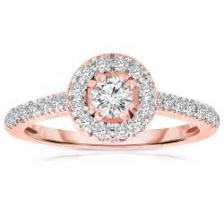 gold engagement rings cheap half carat cut halo engagement ring in gold jeenjewels