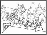 Coloring Christmas Pages Sled Coloringpages1001 sketch template