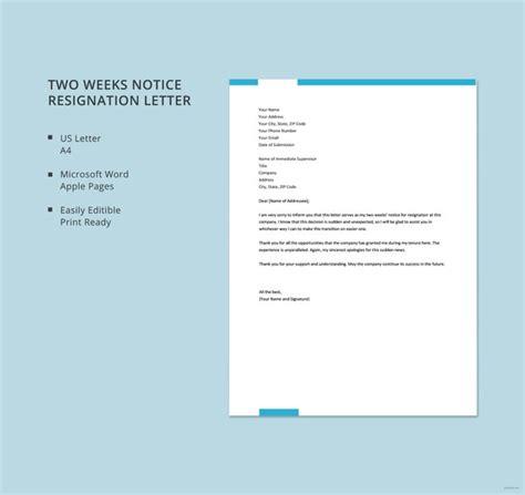 sample resignation letter format templates