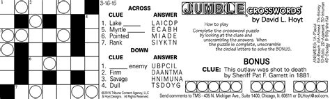 Check spelling or type a new query. Printable Jumble Crosswords | Printable Crossword Puzzles
