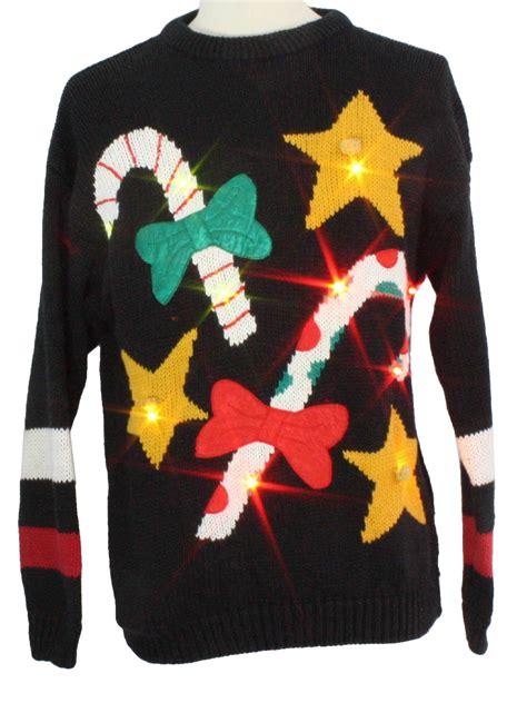 light up ugly sweater light up ugly christmas sweater csl unisex black