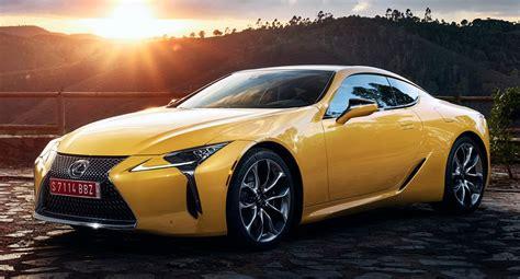 lexus lc yellow edition brings  mind  lfa