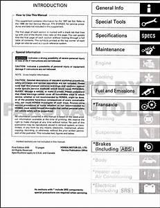 1997 Honda Civic Del Sol Repair Shop Manual Original