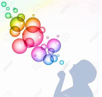 Bubbles Blowing Clipart Background Vector Child Bubble