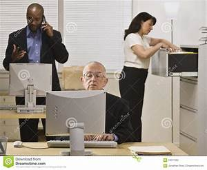Business People Working In Office Stock Image - Image ...