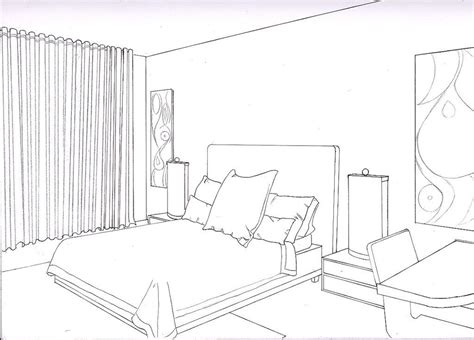 Drawing Of Bedroom by One Point Perspective Bedroom Smallroomsdesigns
