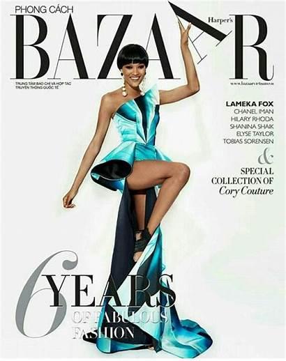 Fox Lameka Magazine Bazaar Covers September Hudson