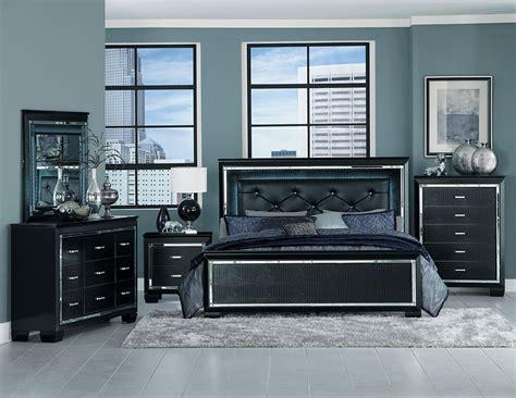Homelegance Bedroom Set by Homelegance Allura Bedroom Set With Led Lighting Black