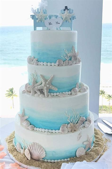 beach themed wedding cake johnson s custom cakes