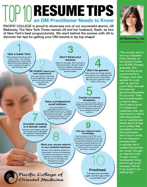 top 10 resume tips an om practitioner needs to by