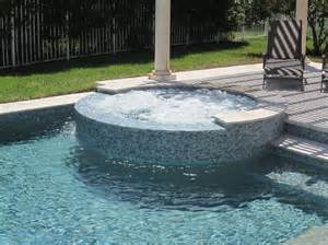 glass tile waterline and raised spa pool builders inc