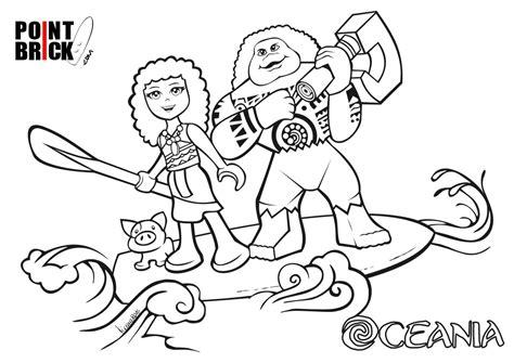 disegni disney da stare e colorare point brick disegni da colorare lego disney oceania