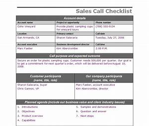 sales call checklist sales call template With sales call cycle template