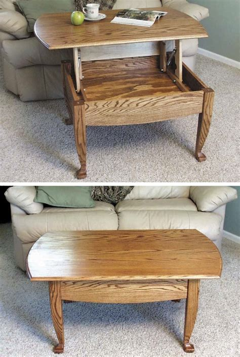 lift  top coffee table woodworking plan woodworkersworkshop  store