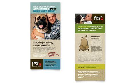 animal shelter pet adoption rack card template design