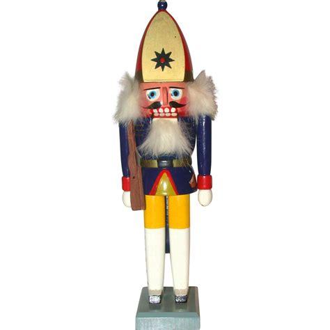 vintage erzgebirge wooden nutcracker of soldier germany